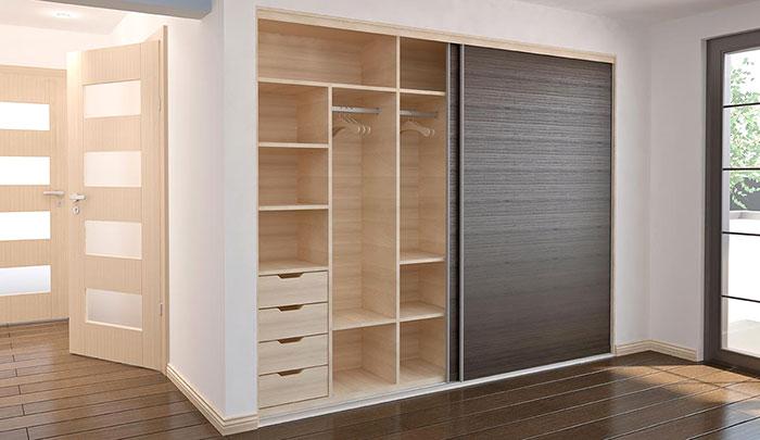 esempio di cabina armadio in cartongesso