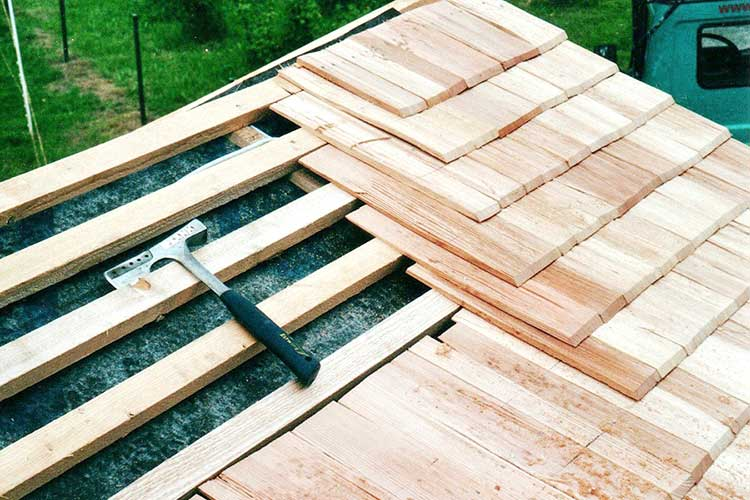 Tegole in legno larice